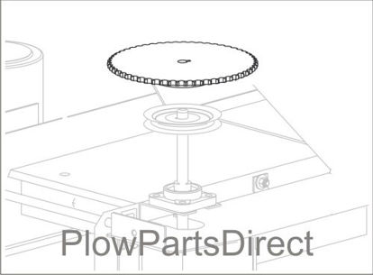 Picture of Tornado / Fisher Poly-Caster 55 tooth sprocket