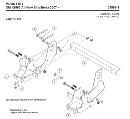 Picture of UltraMount truck mount Chevy GMC 31599-1