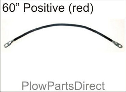 """Picture of Western 60"""" positive cable"""