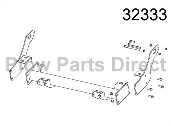 Picture of Western Defender truck mount Toyota Tundra 32333
