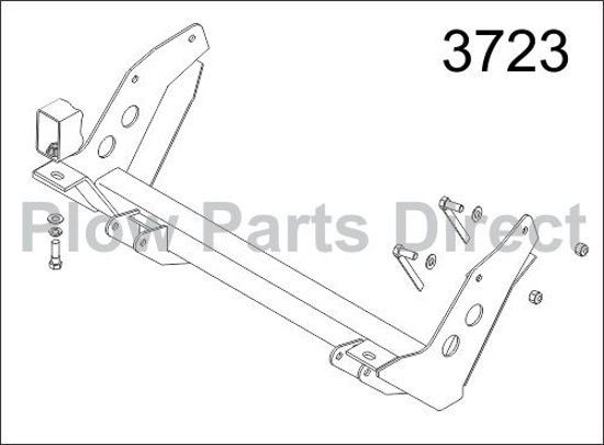Picture of Western Defender truck mount Jeep 3723