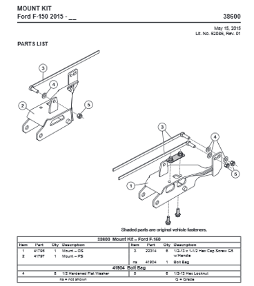 Picture of UltraMount truck mount Ford F-150 - 38600
