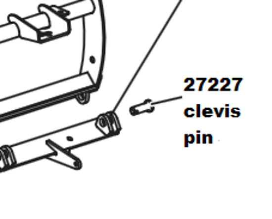"""Picture of Western 1 x 2 3/4"""" Clevis Pin - 27227-1"""