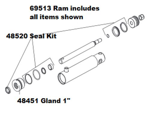 Picture of Western Ram Assy 2 x 6 3/4 DA - 69513