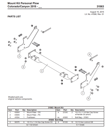 Picture of Western Defender truck mount GM Colorado/Canyon (2015-2021) 31563