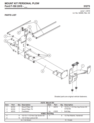 Picture of Western Defender truck mount Ford F-150 (2015-2021) 31273