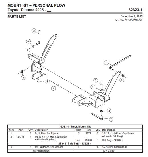 Picture of Western Defender truck mount Toyota Tacoma (2005-) 32323-1