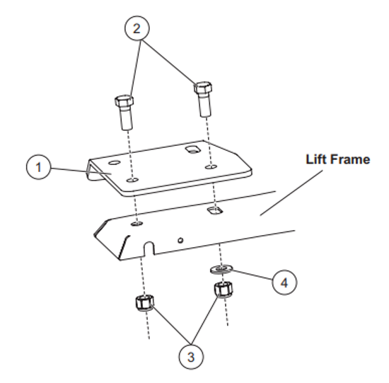 Picture of Western Headlamp Extension Brackets Kit - 68210