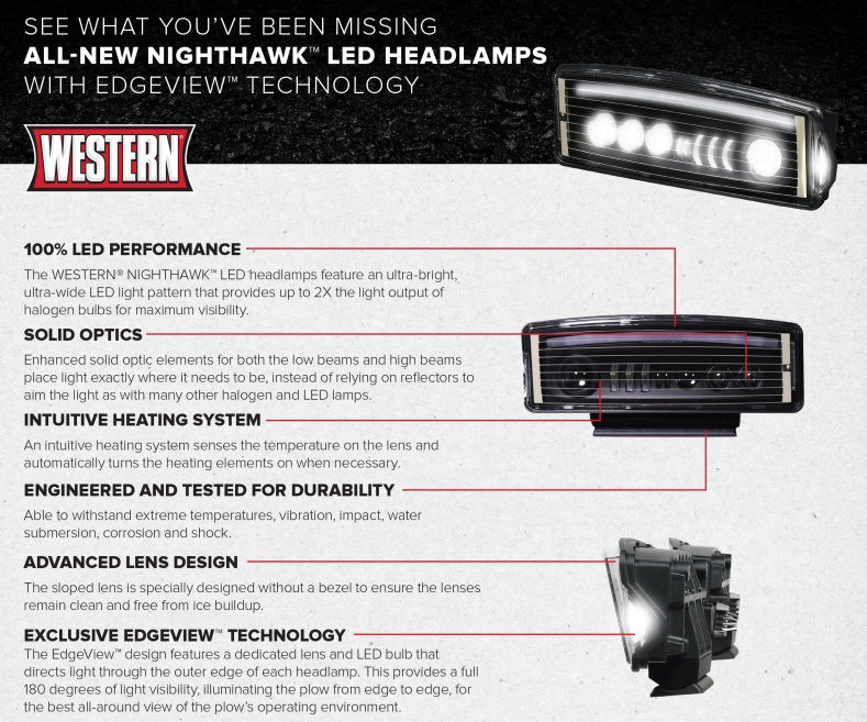 Picture of Western Snow plow lights Nighthawk LED Complete Kit - 72525