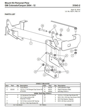 Picture of Western Defender truck mount Colorado-Canyon 2004-12 - 31543-2